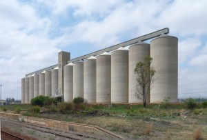 Boons: Silos View on large silos close to Boons railway station